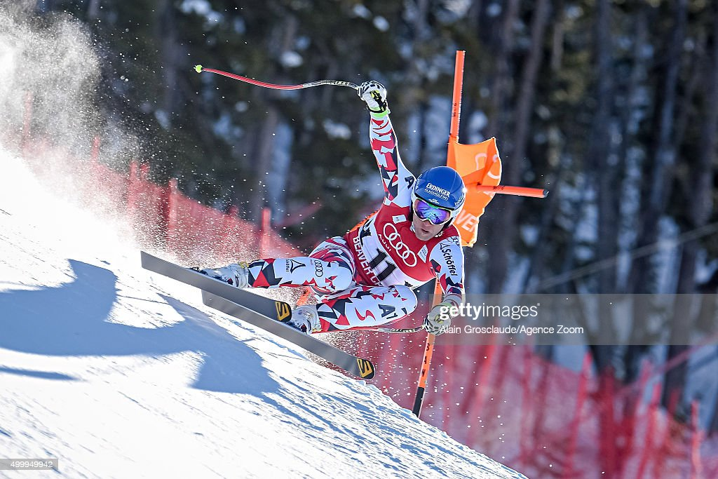 Romed Baumann of Austria competes during the Audi FIS Alpine Ski World Cup Men's Downhill on December 04 2015 in Beaver Creek Colorado