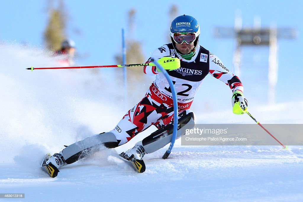 Romed Baumann of Austria competes during the FIS Alpine World Ski Championships Men's Super Combined on February 08 2015 in Vail/Beaver Creek USA