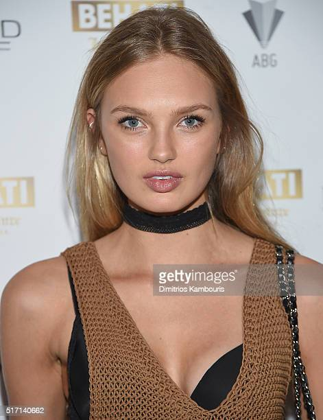 Romee Strijd attends Behati Juicy Couture Black Label Launch at PHD Rooftop Lounge at Dream Downtown on March 23 2016 in New York City