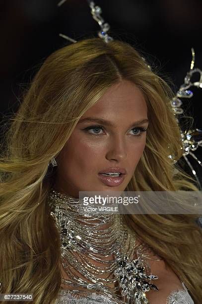Romee Strijd walks the runway during the 2016 Victoria's Secret Fashion Show on November 30 2016 in Paris France