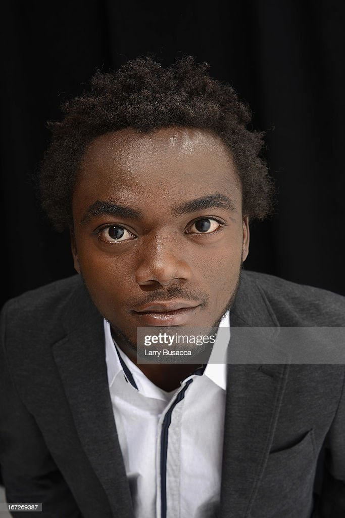 Romel Jean Pierre of the film 'Inside Out: The People's Art Project' poses at the Tribeca Film Festival 2013 portrait studio on April 23, 2013 in New York City.