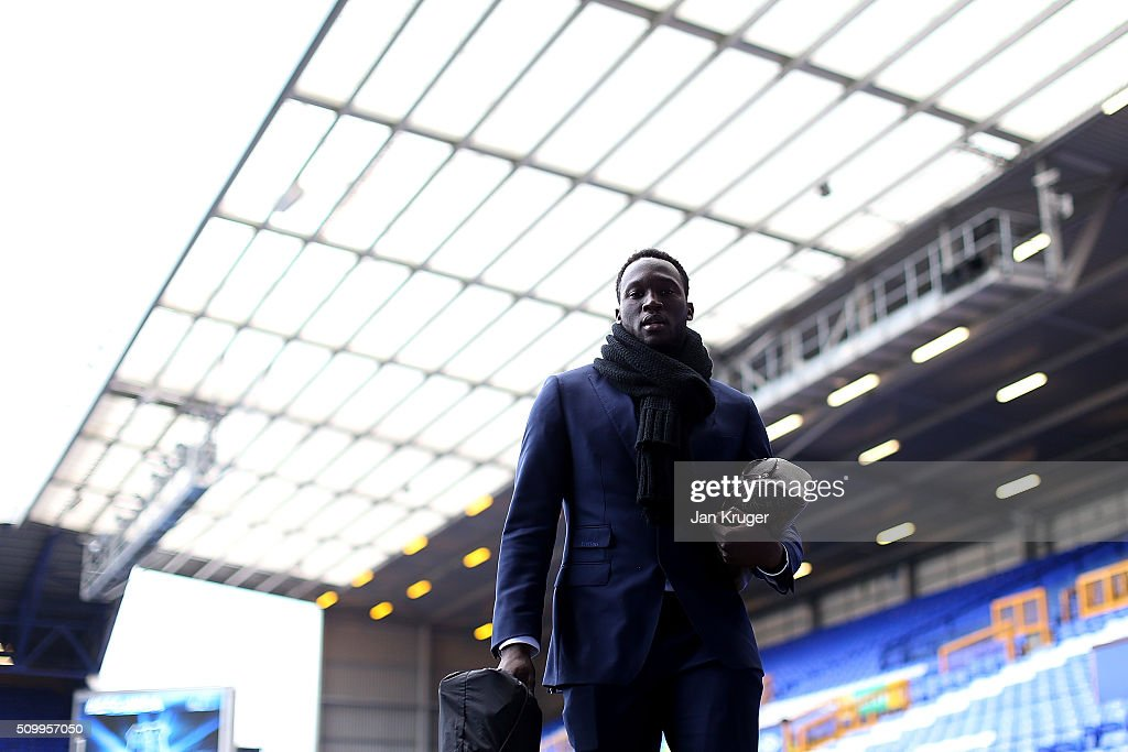 Romelu Lukako of Everton arrives prior to kick off in the Barclays Premier League match between Everton and West Bromwich Albion at Goodison Park on February 13, 2016 in Liverpool, England.