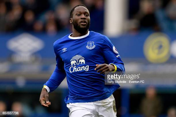 Romelu Lukaku during the Premier League match between Everton and Hull City at the Goodison Park on March 18 2017 in Liverpool England