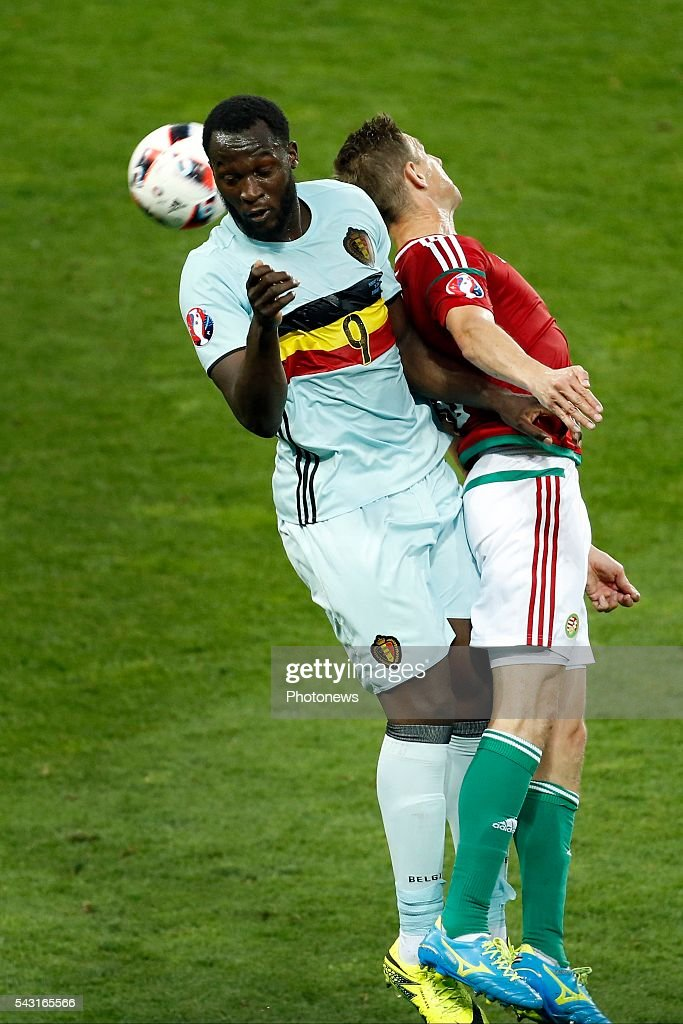 Romelu Lukaku forward of Belgium during the UEFA EURO 2016 Round of 16 match between Hungary and Belgium at the Stadium Toulouse on June 26, 2016 in Toulouse, France ,