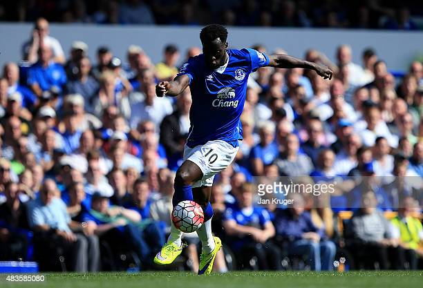 Romelu Lukaku of Everton during the Barclays Premier League match between Everton and Watford at Goodison Park on August 8 2015 in Liverpool England