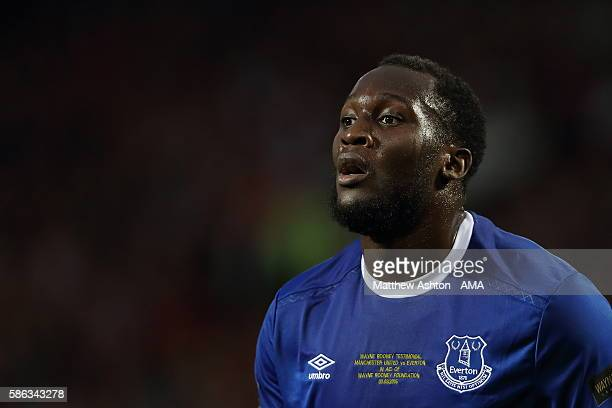 Romelu Lukaku of Everton during the Wayne Rooney Testimonial match between Manchester United and Everton at Old Trafford on August 3 2016 in...