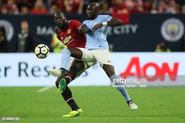 Romelu Lukaku of Manchester United and Eliaquim Mangala of Manchester City during the International Champions Cup 2017 match between Manchester...