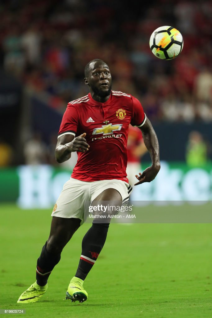 Romelu Lukaku of Manchester United during the International Champions Cup 2017 match between Manchester United and Manchester City at NRG Stadium on July 20, 2017 in Houston, Texas.