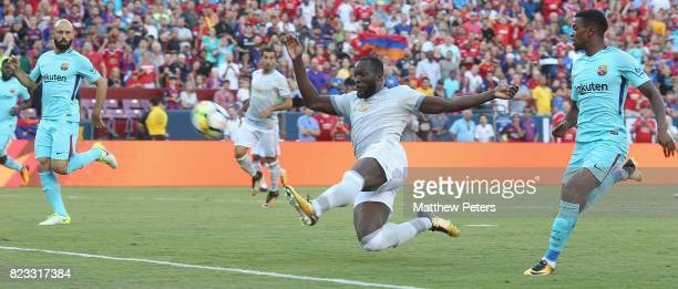 Romelu Lukaku of Manchester United has a shot on goal during the International Champions Cup 2017 preseason friendly match between Manchester United...