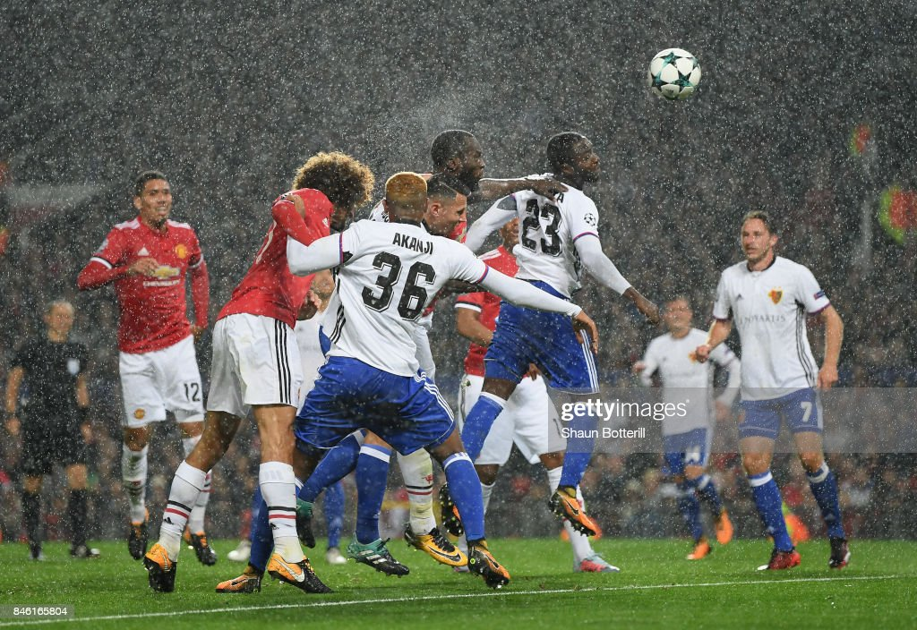 Romelu Lukaku of Manchester United scores his sides second goal during the UEFA Champions League group A match between Manchester United and FC Basel at Old Trafford on September 12, 2017 in Manchester, United Kingdom.