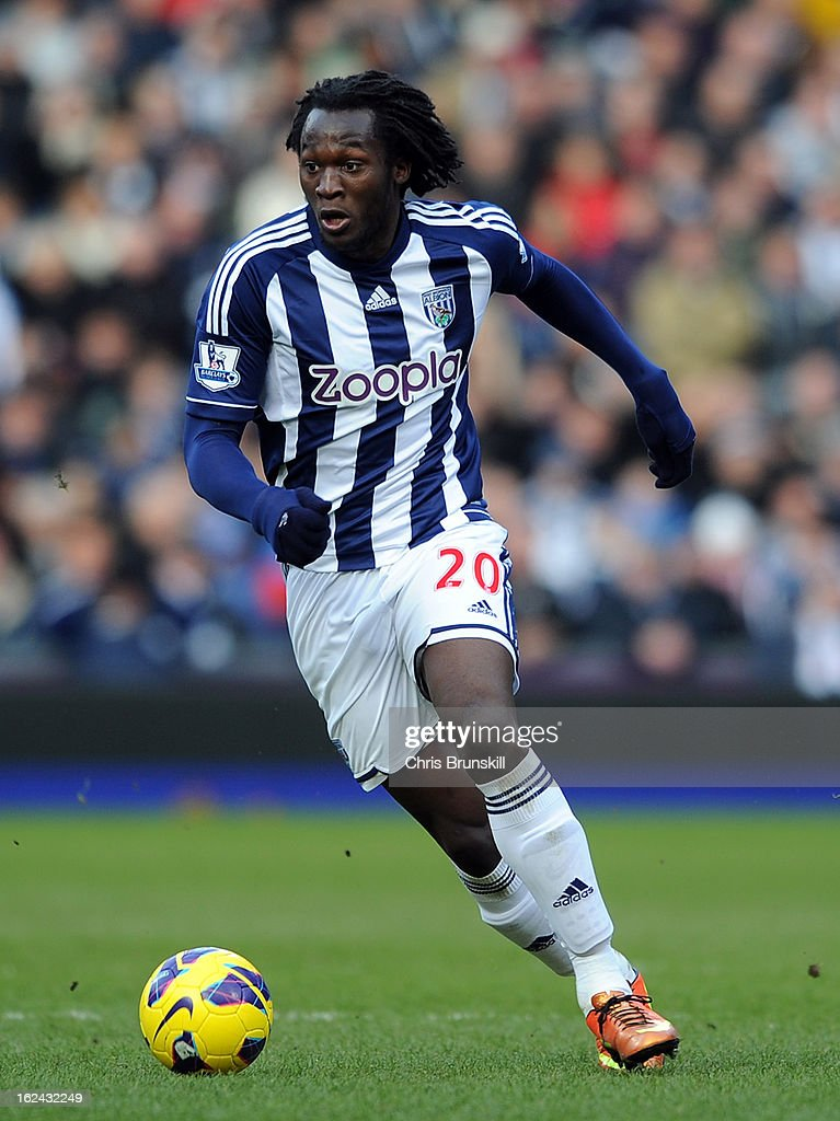 <a gi-track='captionPersonalityLinkClicked' href=/galleries/search?phrase=Romelu+Lukaku&family=editorial&specificpeople=6342802 ng-click='$event.stopPropagation()'>Romelu Lukaku</a> of West Bromwich Albion in action during the Barclays Premier League match between West Bromwich Albion and Sunderland at The Hawthorns on February 23, 2013 in West Bromwich, England.