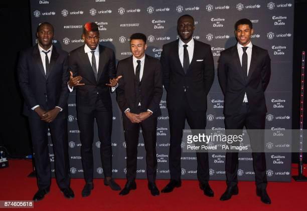 Romelu Lukaku Paul Pogba Jesse Lingard Stormzy and Marcus Rashford attend a gala dinner at Old Trafford in Manchester held by Manchester United and...