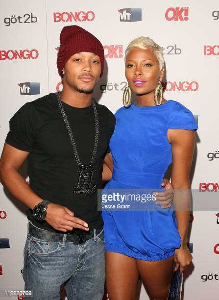 Romeo and Eva Marcille Pigford arrive at the OK Magazine Toasts Hollywood's Sexiest Singles event at the Lexington Social House on April 14 2011 in...