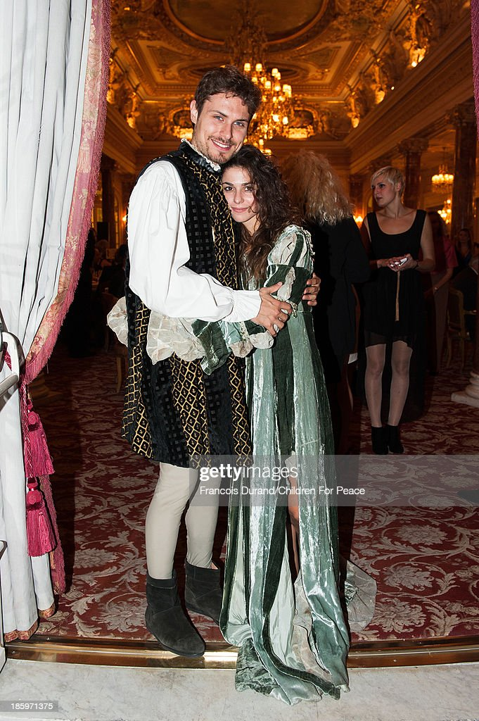 'Romeo and Juliette' comedians attend the 'Opera Romeo and Juliette' : Gala to the benefit of the The Children for Peace association, on October 26, 2013 in Monte-Carlo, Monaco.