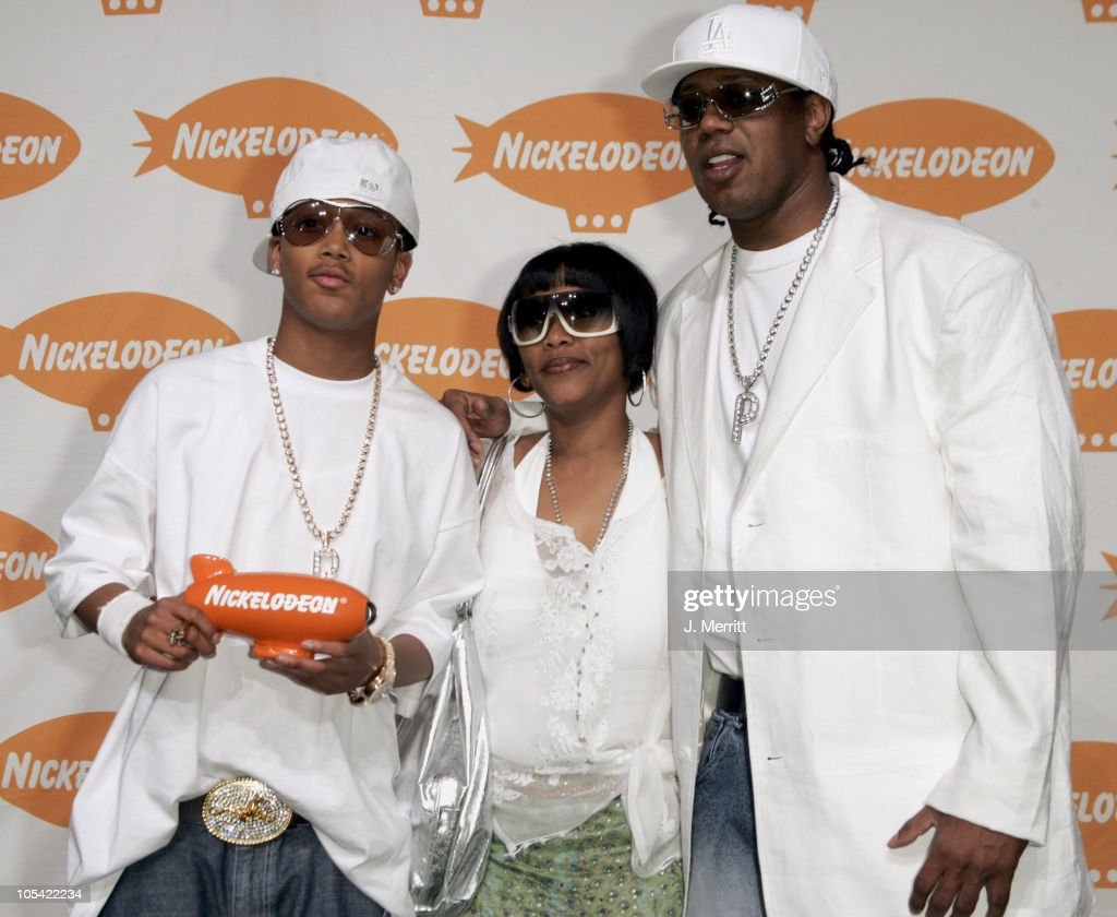 Romeo and Master P during Nickelodeon's 18th Annual Kids Choice Awards Press Room at Pauley Pavillion in Los Angeles California United States