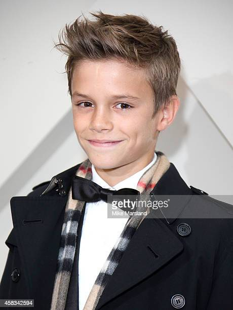 Romeo Beckham attends as Burberry launch their festive campaign starring Romeo Beckham on November 3 2014 in London England