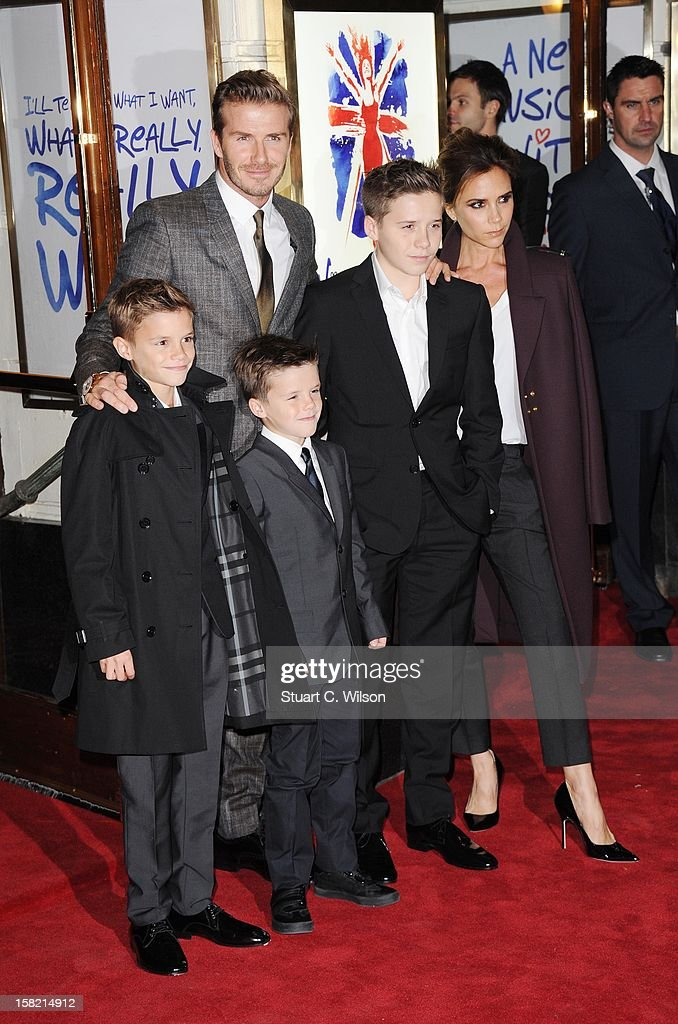 <a gi-track='captionPersonalityLinkClicked' href=/galleries/search?phrase=Romeo+Beckham&family=editorial&specificpeople=171832 ng-click='$event.stopPropagation()'>Romeo Beckham</a>, <a gi-track='captionPersonalityLinkClicked' href=/galleries/search?phrase=David+Beckham&family=editorial&specificpeople=158480 ng-click='$event.stopPropagation()'>David Beckham</a>, <a gi-track='captionPersonalityLinkClicked' href=/galleries/search?phrase=Cruz+Beckham&family=editorial&specificpeople=4337497 ng-click='$event.stopPropagation()'>Cruz Beckham</a>, <a gi-track='captionPersonalityLinkClicked' href=/galleries/search?phrase=Brooklyn+Beckham&family=editorial&specificpeople=214623 ng-click='$event.stopPropagation()'>Brooklyn Beckham</a> and <a gi-track='captionPersonalityLinkClicked' href=/galleries/search?phrase=Victoria+Beckham&family=editorial&specificpeople=161100 ng-click='$event.stopPropagation()'>Victoria Beckham</a> attend the press night of 'Viva Forever', a musical based on the music of The Spice Girls at Piccadilly Theatre on December 11, 2012 in London, England.