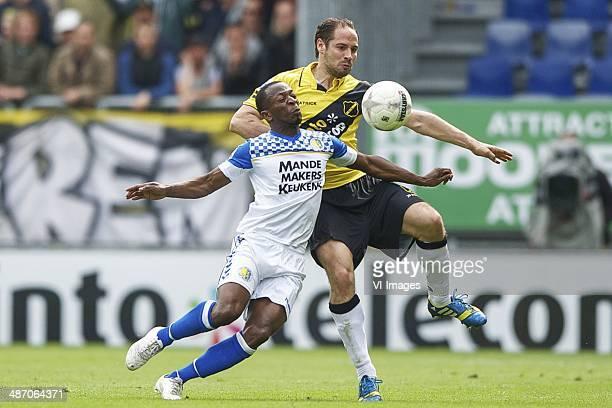 Romeo Castelen of RKC Waalwijk Boldizsar Bodor of NAC Breda during the Dutch Eredivisie match between NAC Breda and RKC Waalwijk at Rat Verlegh...
