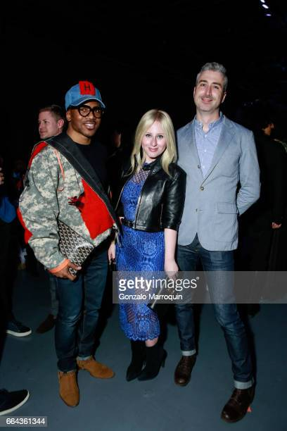 Romeo Hunt Sidney Sadick and Justin Conner attended the Jeffrey Fashion Cares show at Intrepid SeaAirSpace Museum on April 3 2017 in New York City