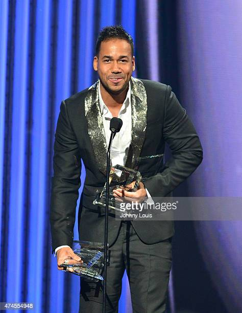 Romeo Santos accepts award at the 2015 Billboard Latin Music Awards presented by State Farm on Telemundo at Bank United Center on April 30 2015 in...