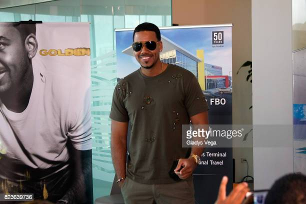 Romeo Santos in press conference at Luis Munoz Marin International Airport on July 27 2017 in San Juan Puerto Rico