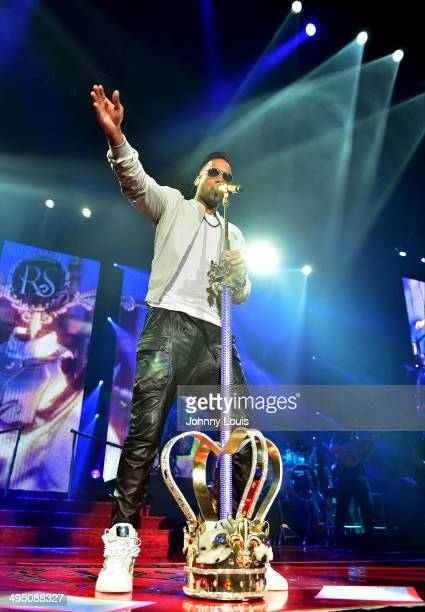 Romeo Santos performs at AmericanAirlines Arena on May 31 2014 in Miami Florida