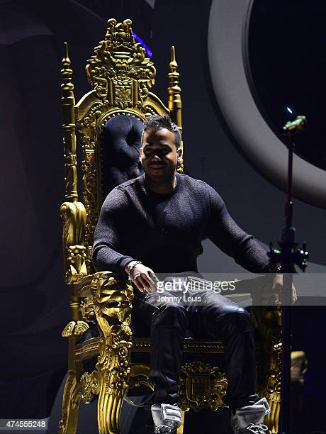 Romeo Santos performs at the 2015 Billboard Latin Music Awards presented by State Farm on Telemundo at Bank United Center on April 30 2015 in Miami...