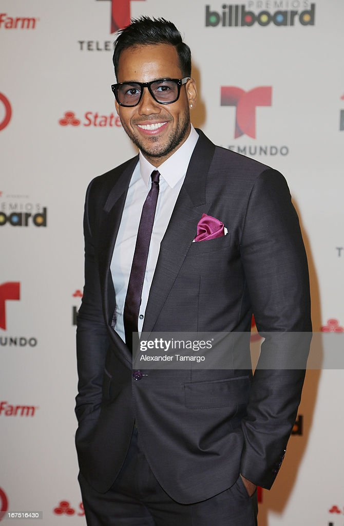 <a gi-track='captionPersonalityLinkClicked' href=/galleries/search?phrase=Romeo+Santos&family=editorial&specificpeople=4103984 ng-click='$event.stopPropagation()'>Romeo Santos</a> poses backstage at Billboard Latin Music Awards 2013 at Bank United Center on April 25, 2013 in Miami, Florida.
