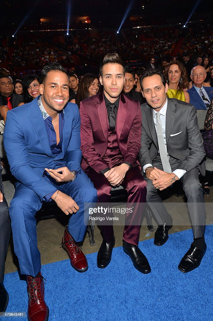 <a gi-track='captionPersonalityLinkClicked' href=/galleries/search?phrase=Romeo+Santos&family=editorial&specificpeople=4103984 ng-click='$event.stopPropagation()'>Romeo Santos</a>, <a gi-track='captionPersonalityLinkClicked' href=/galleries/search?phrase=Prince+Royce&family=editorial&specificpeople=6918529 ng-click='$event.stopPropagation()'>Prince Royce</a>, and <a gi-track='captionPersonalityLinkClicked' href=/galleries/search?phrase=Marc+Anthony&family=editorial&specificpeople=202544 ng-click='$event.stopPropagation()'>Marc Anthony</a> attend Premio Lo Nuestro a la Musica Latina 2014 at American Airlines Arena on February 20, 2014 in Miami, Florida.