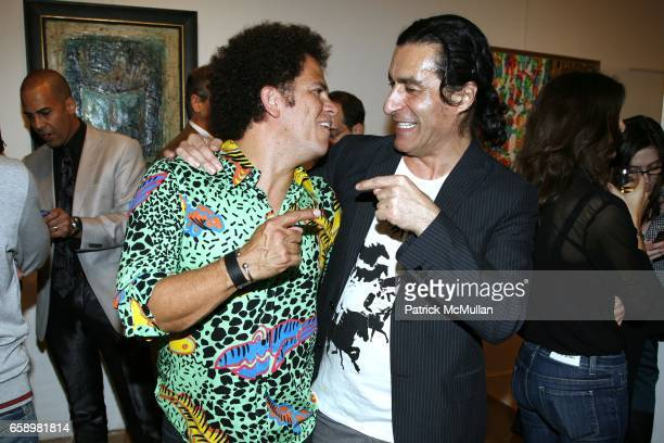 Romero Britto and Eric Allouche attend OPERA GALLERY New York will host an exclusive preview of beautiful works by DINA POLDOSKY ROMERO BRITTO at...
