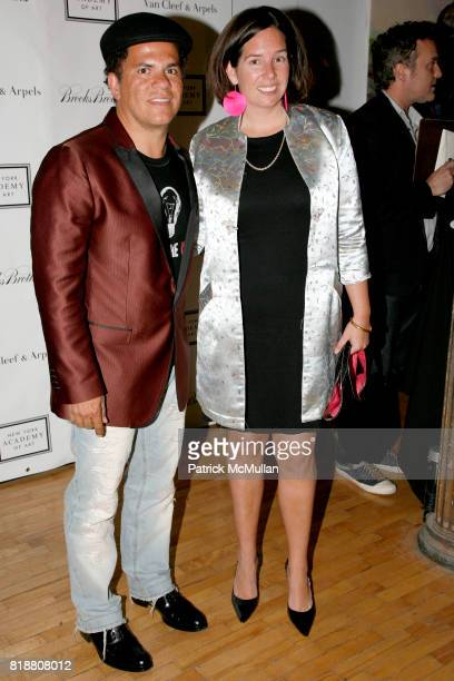 Romero Britto and Sabina Forbes attend 2010 TRIBECA BALL at the NEW YORK ACADEMY OF ART at 111 Franklin St on April 13 2010 in New York