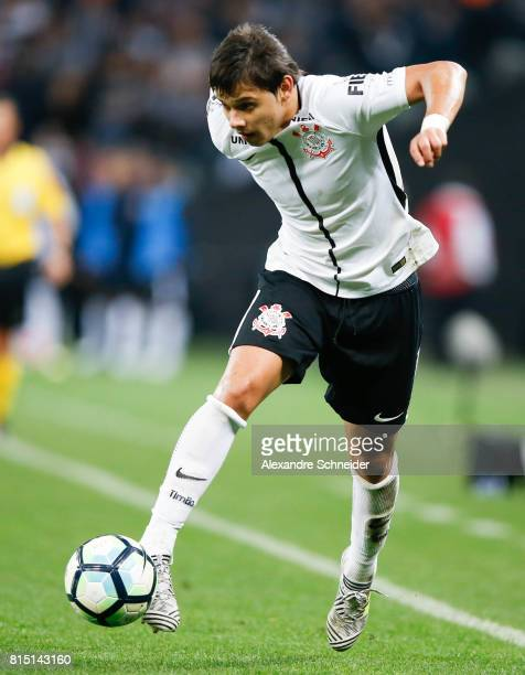 Romero of Corinthians in action during the match between Corinthians and Atletico PR for the Brasileirao Series A 2017 at Arena Corinthians Stadium...