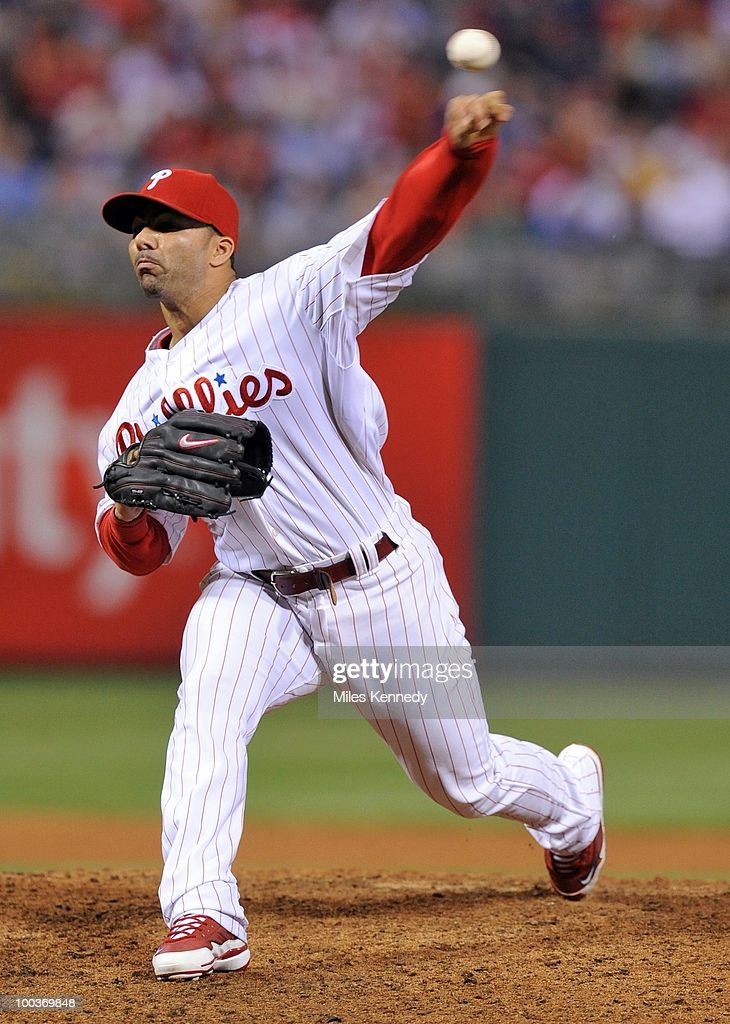 C Romero of the Philadelphia Phillies pitches against the Boston Red Sox in the ninth inning on May 21 2010 at Citizens Bank Park in Philadelphia...