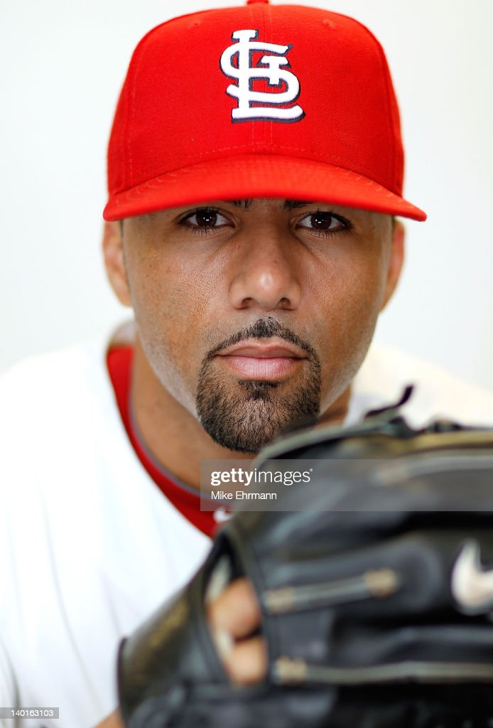 C Romero of the St Louis Cardinals poses during photo day at Roger Dean Stadium on February 29 2012 in Jupiter Florida