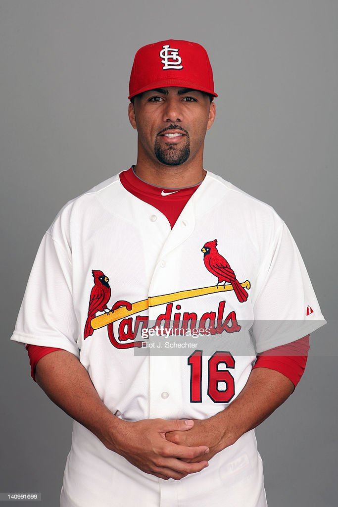C Romero of the St Louis Cardinals poses during Photo Day on Wednesday February 29 2012 at Roger Dean Stadium in Jupiter Florida