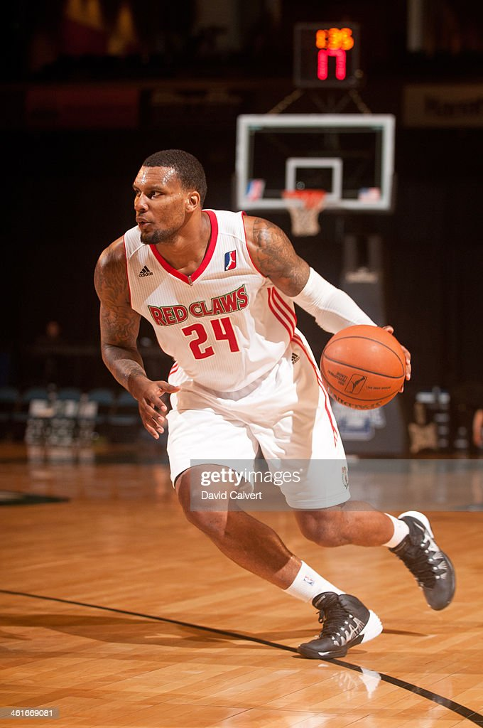 <a gi-track='captionPersonalityLinkClicked' href=/galleries/search?phrase=Romero+Osby&family=editorial&specificpeople=5757556 ng-click='$event.stopPropagation()'>Romero Osby</a> #24 of the Maine Red Claws dribbles the ball against the Rio Grande Valley Vipers during the 2014 NBA D-League Showcase on January 8, 2014 at the Reno Events Center in Reno, Nevada.