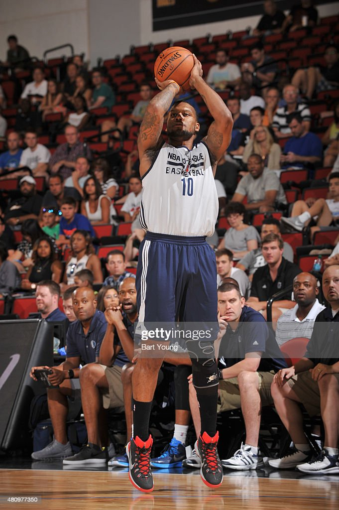 Romero Osby #10 of the NBA D-League Select shoots the ball against the Dallas Mavericks on July 16, 2015 at The Cox Pavilion in Las Vegas, Nevada.