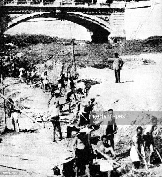 Rome's Jewish Ghetto in 1943 forced labor along the banks of the river Tiber The Fascist racial laws are a set of legislative and administrative...