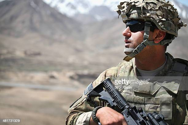 Romik Hazarian from Los Angeles California with the US Army's 2nd Battalion 87th Infantry Regiment 3rd Brigade Combat Team 10th Mountain Division...