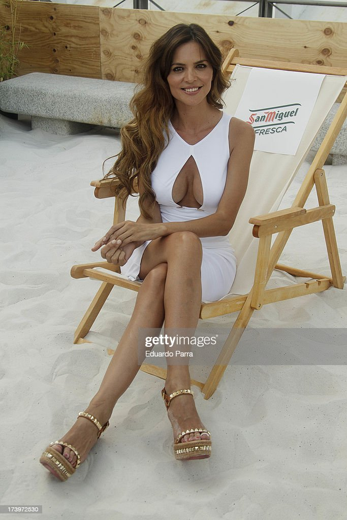 Romina Belluscio attends 'San Miguel Fresca' beer photocall at Nuevos Ministerios train station on July 18 2013 in Madrid Spain
