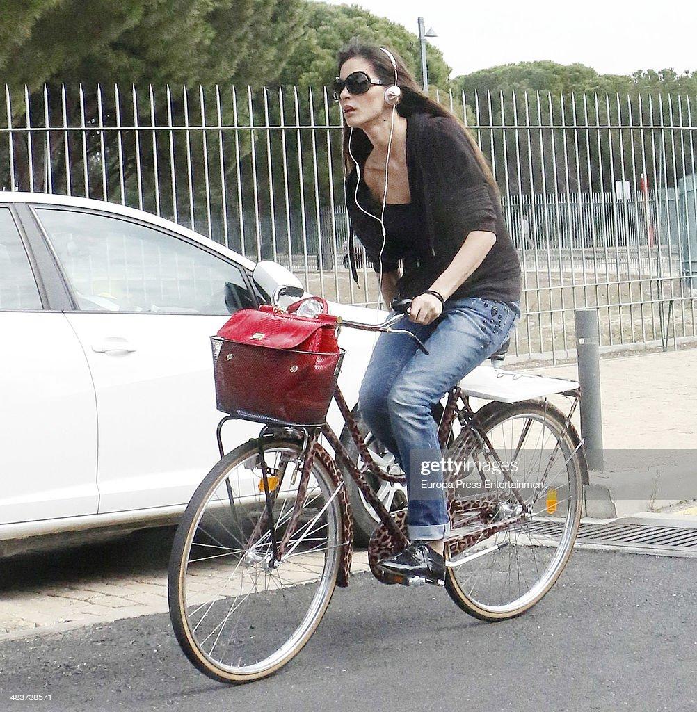 Romina Belluscio is seen on April 9 2014 in Madrid Spain