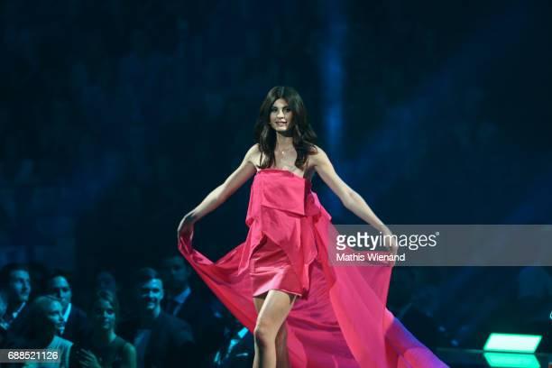 Romina Brennecke attends the Germany's Next Topmodel Final at KoenigPilsenerARENA on May 25 2017 in Oberhausen Germany