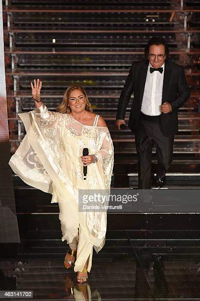 Romina Power and Al Bano attend the opening night of the 65th Festival di Sanremo 2015 at Teatro Ariston on February 10 2015 in Sanremo Italy