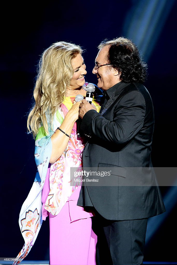 Al Baño Romina Power:Romina Power and Al Bano Carrisi perform on stage their last show 'AL
