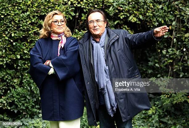 Romina Power and Albano Carrisi attend 'Cosi' Lontani Cosi' Vicini' Tv Show Photocall at RAI Viale Mazzini on January 20 2016 in Rome Italy