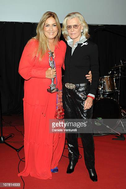 Romina Power and Marina Cicogna attend the third day of the 15th Annual Capri Hollywood International Film Festival on December 29 2010 in Capri Italy