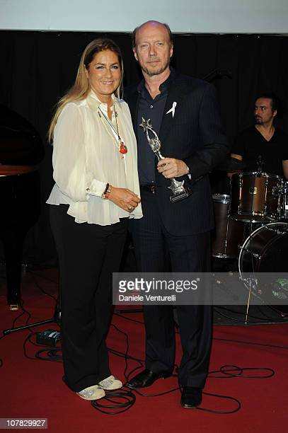 Romina Power and Paul Haggis attend the fourth day of the 15th Annual Capri Hollywood International Film Festival on December 30 2010 in Capri Italy