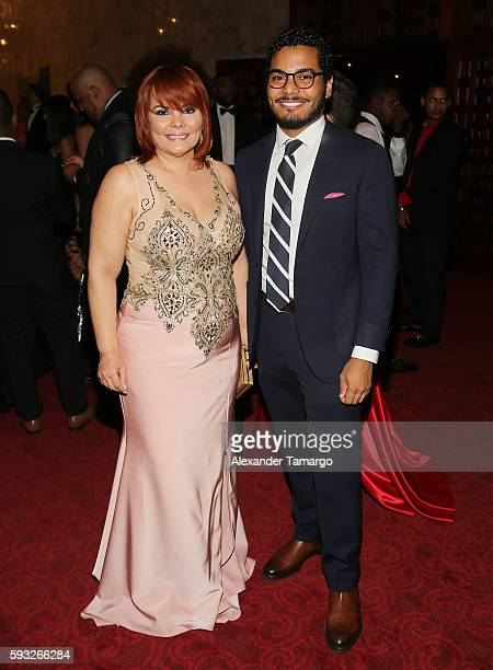 Rommy Grullon and Osiris Pichardo are seen at the IRIS Dominicana Movie Awards at the Teatro Nacional on August 21 2016 in Santo Domingo Dominican...