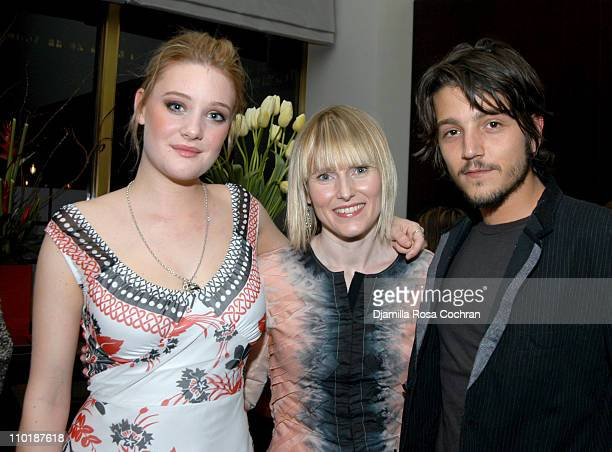 Romola Garai Amy Astley and Diego Luna during Olympus Fashion Week Fall 2004 Teen Vogue Hosts the Screening of 'Dirty Dancing Havana Nights' at The...