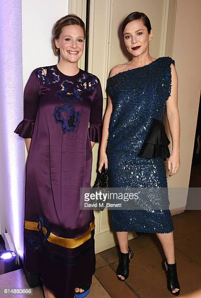 Romola Garai and Anna Friel attend the BFI London Film Festival Awards during the 60th BFI London Film Festival at Banqueting House on October 15...